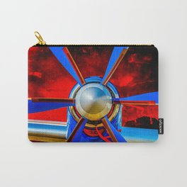 Blue propeller Carry-All Pouch