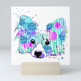 zoe the papillon Mini Art Print
