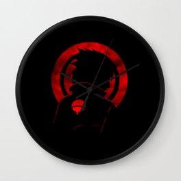 Red Uchiha Sasuke Wall Clock