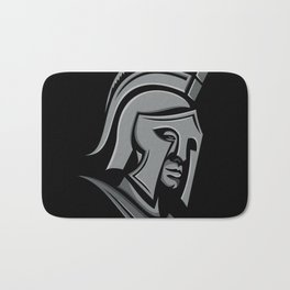 Spartan Warrior Head Metallic Icon Bath Mat