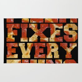 Pizza Fixes Everything   Rug