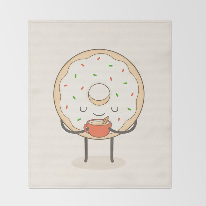 donut loves holidays Throw Blanket