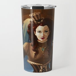 """Capuchin"" Steampunk Pin-Up Travel Mug"