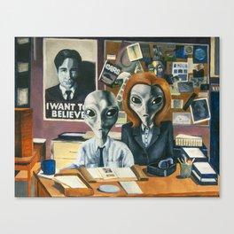 X-Files - Agent Grey Canvas Print
