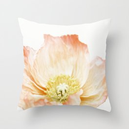 Pink Poppy No. 2   Floral Art Throw Pillow