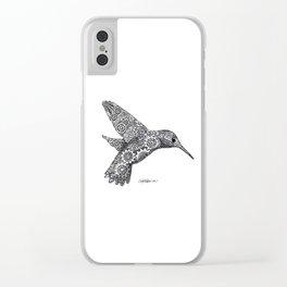 Clockwork Hummingbird Clear iPhone Case