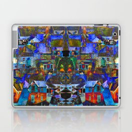 Town houses abstract Laptop & iPad Skin