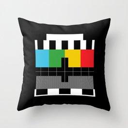 Test Pattern Throw Pillow