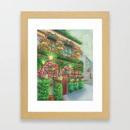 Travel Garden Pub Night Framed Art Print