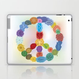 Peace Sign In Colors Laptop & iPad Skin