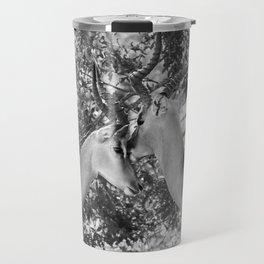 Gazelle (Black and White) Travel Mug