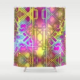 Neon Deco Shower Curtain