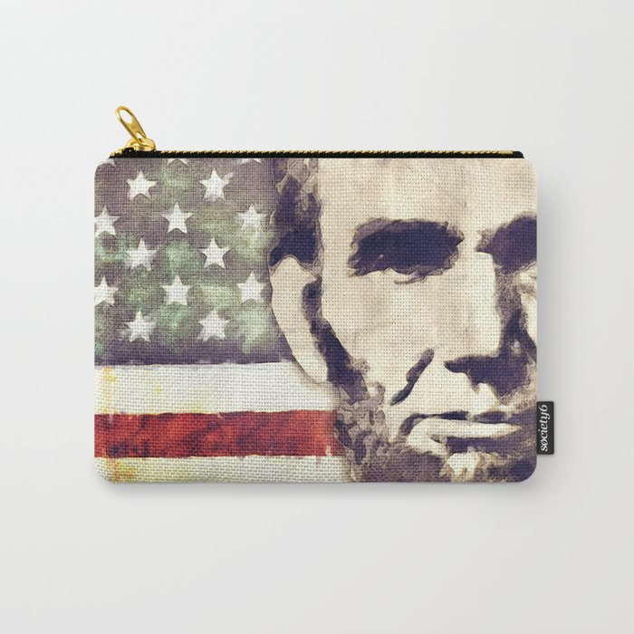 Patriot President Abraham Lincoln Carry-All Pouch