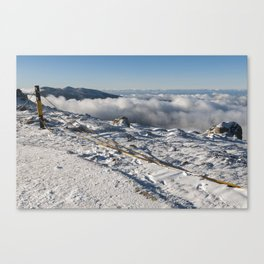 snowy summit Canvas Print