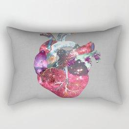 Superstar Heart (on grey) Rectangular Pillow