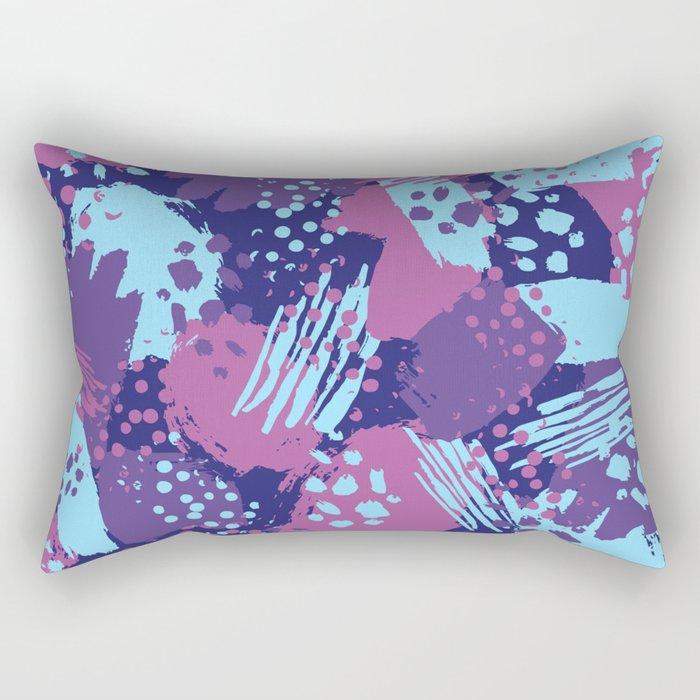 Modern brush blots Rectangular Pillow