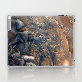Swirling Clouds of Planet Jupiter Close Up from Juno Cam Laptop & iPad Skin