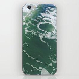 Sea Foam Green Ocean Wave Photograph iPhone Skin