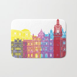 Bilbao skyline pop Bath Mat