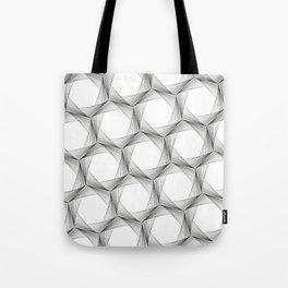 crazy hexagons Tote Bag