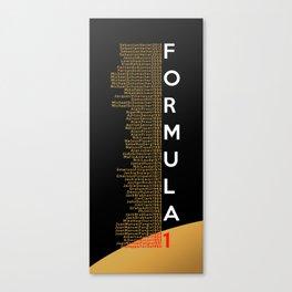 Formula 1 Champions - Lotus F1 Team 2013 edition Canvas Print