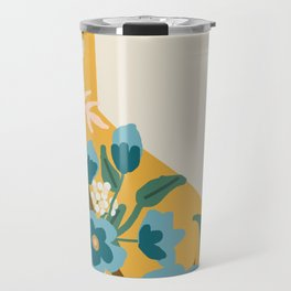 The Golden State of Flowers Travel Mug