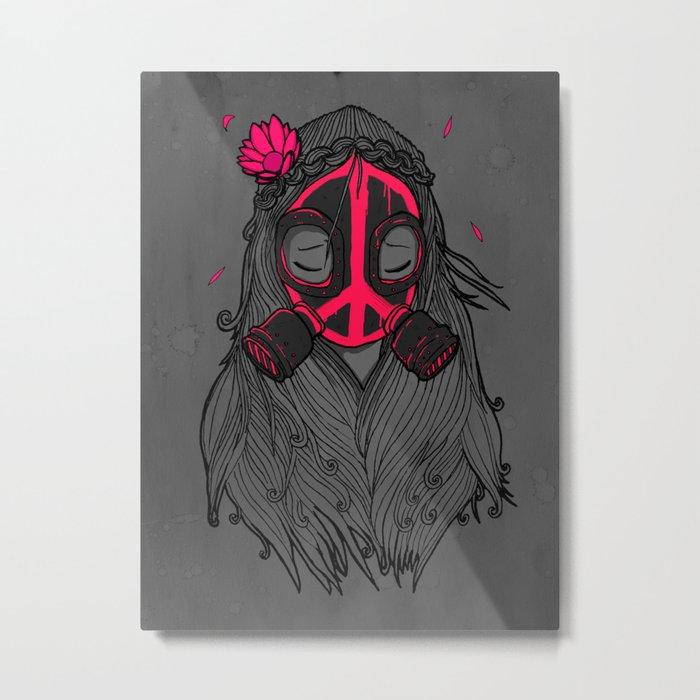 War and Peace (GREY) Metal Print