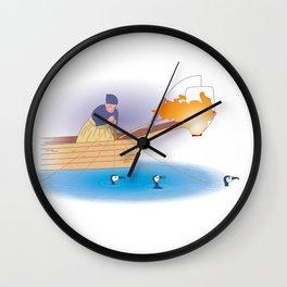 Japanese Cormorant fishing Wall Clock