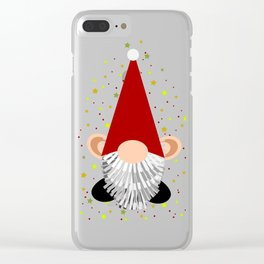 Santa - Gnome Clear iPhone Case