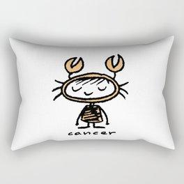 crabby cancer cutie pie Rectangular Pillow