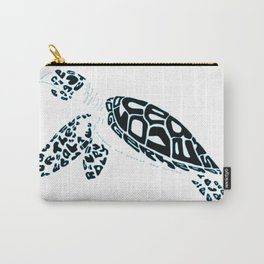 Calligram Sea Turtle Carry-All Pouch