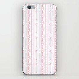 Blush pink white bohemian arrows zigzag geometrical iPhone Skin