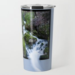 Waterfall Susec with 3D pop out of frame effect Travel Mug