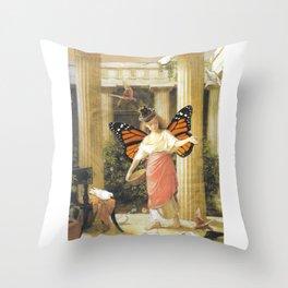 Birdfeeder Throw Pillow