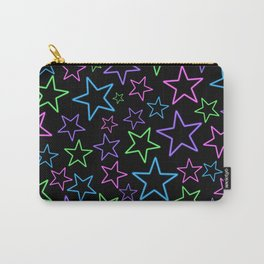 Neon Stars Carry-All Pouch