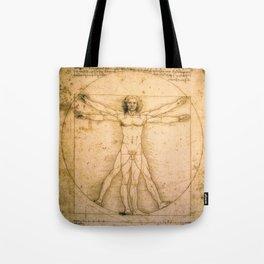 Vitruvian Man by Leonardo da Vinci Tote Bag