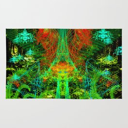 Forest Fern Spirits Rug