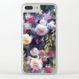 Climbing Roses Clear iPhone Case