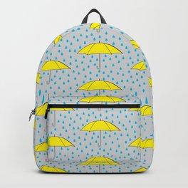 Raining Yellow Umbrellas Backpack