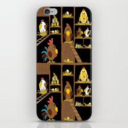 Chicken Coop - chickens, farm, illustration, birds iPhone Skin