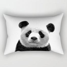 Black and white panda portrait Rectangular Pillow
