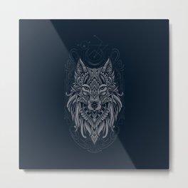 Wolf of North Metal Print