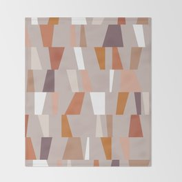 Neutral Geometric 03 Throw Blanket