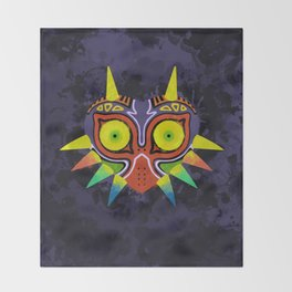 Majora's Mask Splatter Throw Blanket