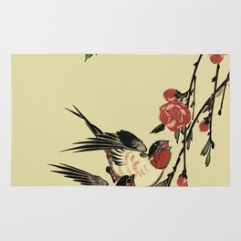 Moon Swallows and Peach Blossoms Rug