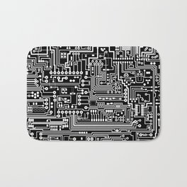 Circuit Board on Black Bath Mat