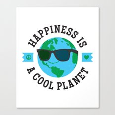 Happiness Is A Cool Planet Canvas Print