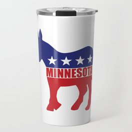 Minnesota Democrat Donkey Travel Mug