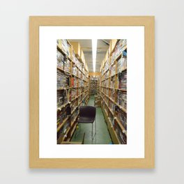 The Lonely Chair Befriends Literature Framed Art Print
