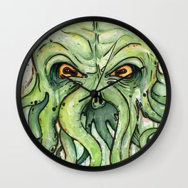 Cthulhu HP Lovecraft Green Monster Tentacles Wall Clock